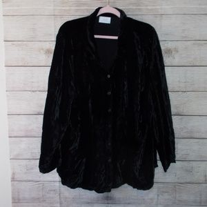 Soft Surroundings Velvet Button Up Top Size 3X